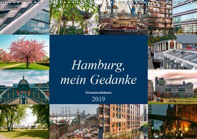 Hamburg, mein Gedanke (Wandkalender 2019 DIN A3 quer), Carmen Steiner / Matthias Konrad
