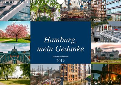 Hamburg, mein Gedanke (Wandkalender 2019 DIN A4 quer), Carmen Steiner / Matthias Konrad