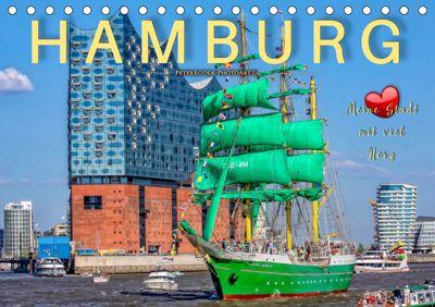 Hamburg - meine Stadt mit viel Herz (Tischkalender 2019 DIN A5 quer), Peter Roder