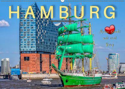 Hamburg - meine Stadt mit viel Herz (Wandkalender 2019 DIN A2 quer), Peter Roder