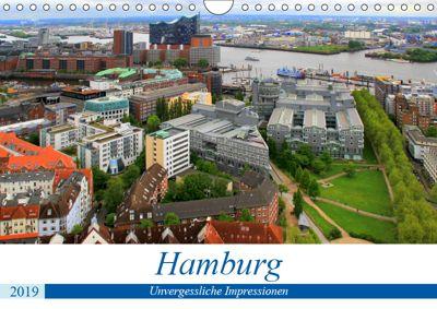 Hamburg - Unvergessliche Impressionen (Wandkalender 2019 DIN A4 quer), Arno Klatt