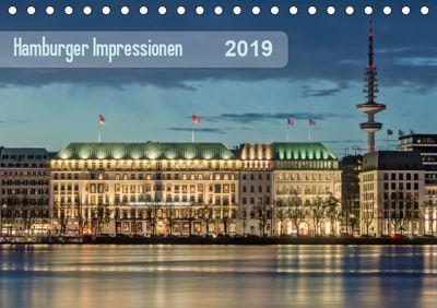 Hamburger Impressionen 2019 (Tischkalender 2019 DIN A5 quer), Klaus Kolfenbach