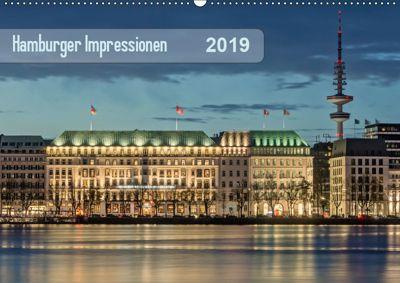 Hamburger Impressionen 2019 (Wandkalender 2019 DIN A2 quer), Klaus Kolfenbach