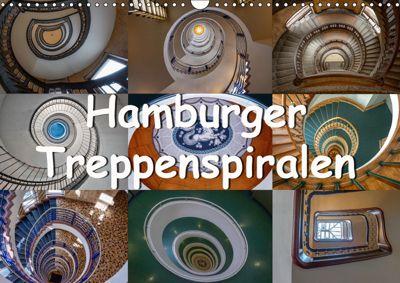 Hamburger Treppenspiralen (Wandkalender 2019 DIN A3 quer), Annick Salomo & Thomas Becker