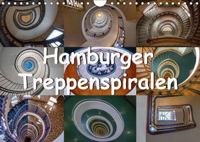 Hamburger Treppenspiralen (Wandkalender 2019 DIN A4 quer), Annick Salomo & Thomas Becker