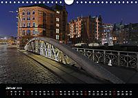 Hamburgs Brücken bei Nacht (Wandkalender 2019 DIN A4 quer) - Produktdetailbild 1