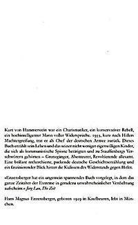 Hammerstein oder Der Eigensinn - Produktdetailbild 2