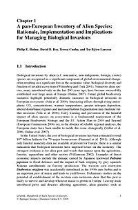 Handbook of Alien Species in Europe - Produktdetailbild 1