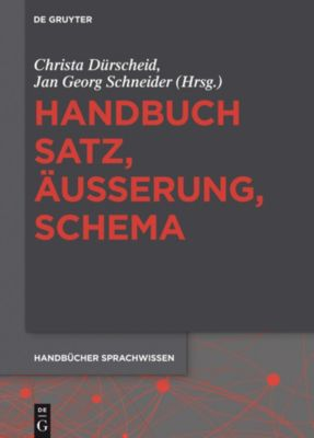 Handbuch Satz, Äußerung, Schema