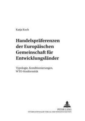 Handelspräferenzen der Europäischen Gemeinschaft für Entwicklungsländer, Katja Koch