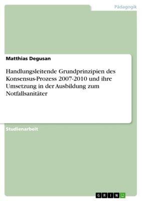 Handlungsleitende Grundprinzipien des Konsensus-Prozess 2007-2010 und ihre Umsetzung in der Ausbildung zum Notfallsanitäter, Matthias Degusan
