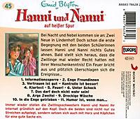 Hanni und Nanni auf heisser Spur, 1 Audio-CD - Produktdetailbild 1