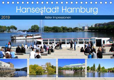 Hansestadt Hamburg - Alster Impressionen (Tischkalender 2019 DIN A5 quer), Arno Klatt