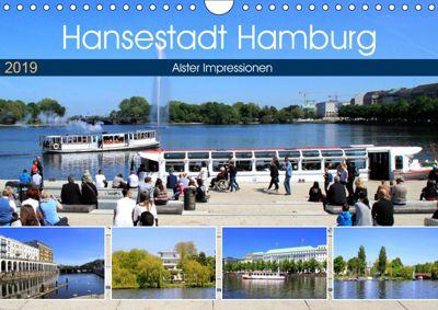 Hansestadt Hamburg - Alster Impressionen (Wandkalender 2019 DIN A4 quer), Arno Klatt