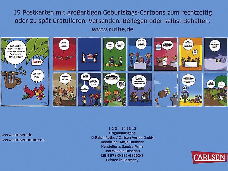 Happy Birthday Geburtstagspostkarten Postkartenbuch Buch Kaufen
