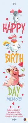 Happy Birthday Memory, Geburtstagskalender, Helme Heine