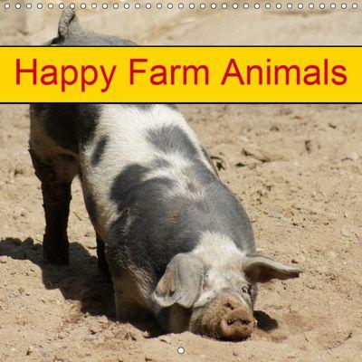 Happy Farm Animals (Wall Calendar 2019 300 × 300 mm Square), k.A. Kattobello