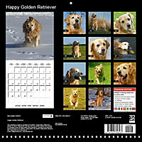 Happy Golden Retriever (Wall Calendar 2019 300 × 300 mm Square) - Produktdetailbild 13