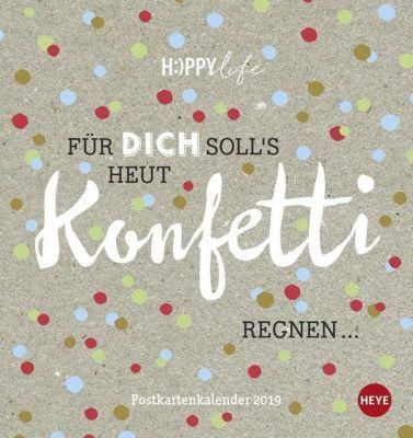 HAPPYlife Postkartenkalender 2019