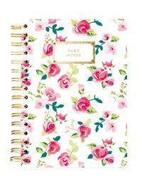 Hard Bound Journal: Pretty Floral Take Notes - Hardcover-Notizbuch mit stabiler Ringbindung: Schön geblümt, Graphique de France