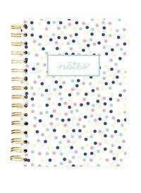 Hard Bound Journal: Small Pastel Dots - Hardcover-Notizbuch mit stabiler Ringbindung: Kleine pastellfarbene Punkte, Graphique de France