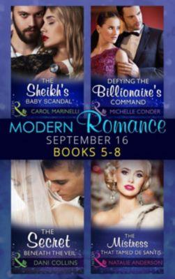 Harlequin - Series eBook - Modern: Modern Romance September 2016 Books 5-8 (Mills & Boon e-Book Collections), Natalie Anderson, Carol Marinelli, Michelle Conder, Dani Collins