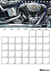 Harley Davidson Familienplaner (Tischkalender 2019 DIN A5 hoch) - Produktdetailbild 3