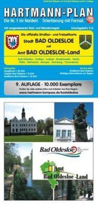 HARTMANN-PLAN Bad Oldesloe und Bad Oldesloe-Land 1 : 30.000 Stadtplan und Amtsplan