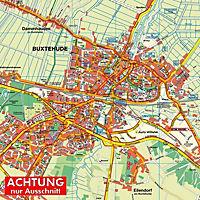 HARTMANN-PLAN Buxtehude, 1: 20.000 Stadtplan mit kpl. Stadtgebiet - Produktdetailbild 1