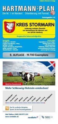 HARTMANN-PLAN Kreis Stormarn 1 : 100.000 Kreiskarte