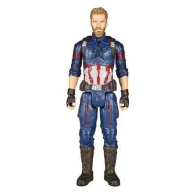 Hasbro E0607100 Avengers Titan Hero Power FX Captain America mit Power FX Pack