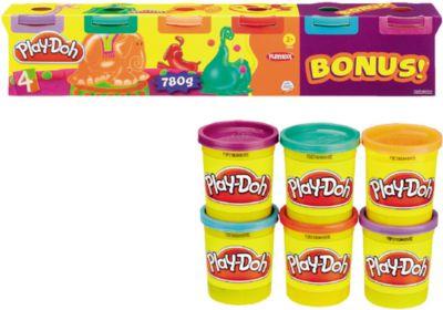 Hasbro Play Doh Neonfarben, Knete, 6er-Pack