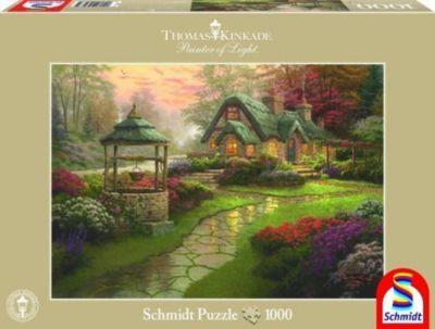 Haus mit Brunnen (Puzzle), Thomas Kinkade