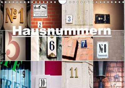 Hausnummern (Wandkalender 2019 DIN A4 quer), andrea aplowski