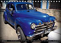 HAVANA BLUE - Blaue Oldtimer auf Kuba (Tischkalender 2019 DIN A5 quer) - Produktdetailbild 1