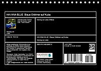 HAVANA BLUE - Blaue Oldtimer auf Kuba (Tischkalender 2019 DIN A5 quer) - Produktdetailbild 13
