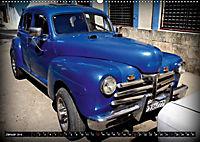 HAVANA BLUE - Blaue Oldtimer auf Kuba (Wandkalender 2019 DIN A2 quer) - Produktdetailbild 1