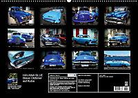 HAVANA BLUE - Blaue Oldtimer auf Kuba (Wandkalender 2019 DIN A2 quer) - Produktdetailbild 13