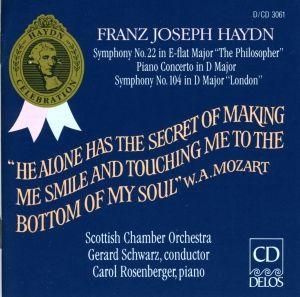 Haydn/Sinf.22+104/Klav.Konz., Carol Rosenberger, Schwarz, Sco