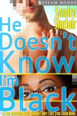He Doesn't Know I'm Black - A Sexy Interracial Erotic Romance Short Story from Steam Books, Sandra Sinclair, Steam Books