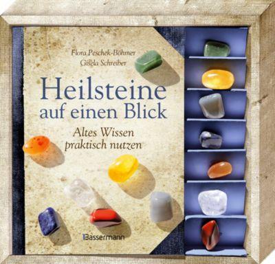 Heilsteine auf einen Blick, m. 7 Steinen, Flora Peschek-Böhmer, Gisela Schreiber