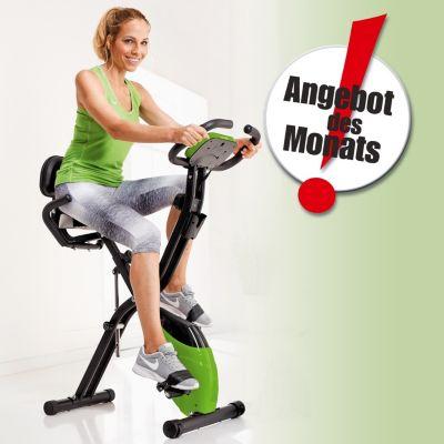 Heimtrainer Fahrrad mit Expanderbändern, klappbar