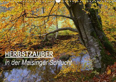 Herbstzauber in der Maisinger Schlucht (Wandkalender 2019 DIN A3 quer), Anja Frost