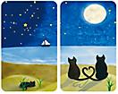 "Herd-Abdeckplatten ""Katzen"", 2er-Set"