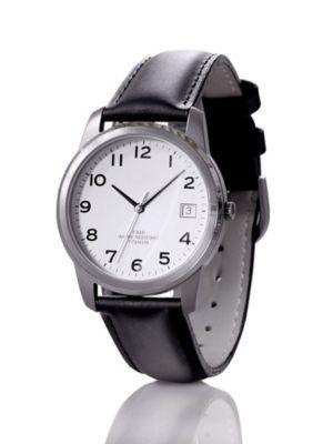 Herren-Armbanduhr, aus Titan, (Gehäuse-Ø: 35 mm)