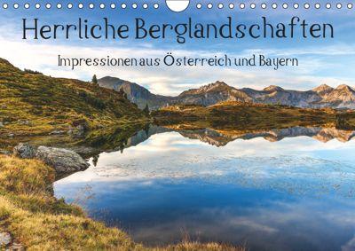 Herrliche Berglandschaften - Impressionen aus Österreich und BayernAT-Version (Wandkalender 2019 DIN A4 quer), Hannes Brandstätter
