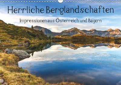 Herrliche Berglandschaften - Impressionen aus Österreich und BayernAT-Version (Wandkalender 2019 DIN A3 quer), Hannes Brandstätter