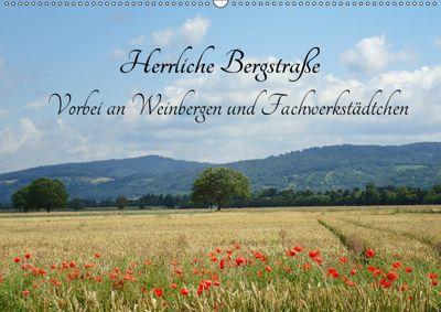 Herrliche Bergstrasse Vorbei an Weinbergen und Fachwerkstädtchen (Wandkalender 2019 DIN A2 quer), Ilona Andersen
