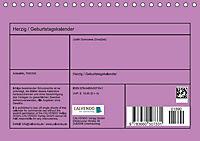 Herzig / Geburtstagskalender (Tischkalender immerwährend DIN A5 quer) - Produktdetailbild 13