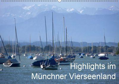 Highlights im Münchner Vierseenland (Wandkalender 2019 DIN A2 quer), Anna-Christina Weiss